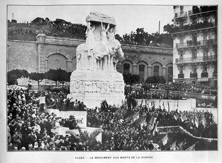"""Открытие """"Монумента павшим"""" Ландовски, Алжир, 1928"""